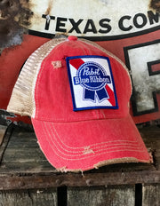 Pabst Beer Distressed Baseball Cap