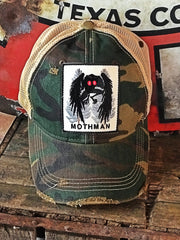 Mothman Cryptid Stretch Fit Hat