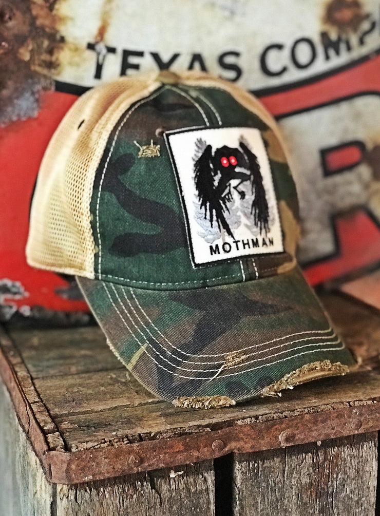 Mothman Distressed Baseball Cap Stretch Fit