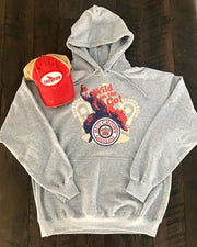 Red Crown Wild Hoodie- Heather Grey