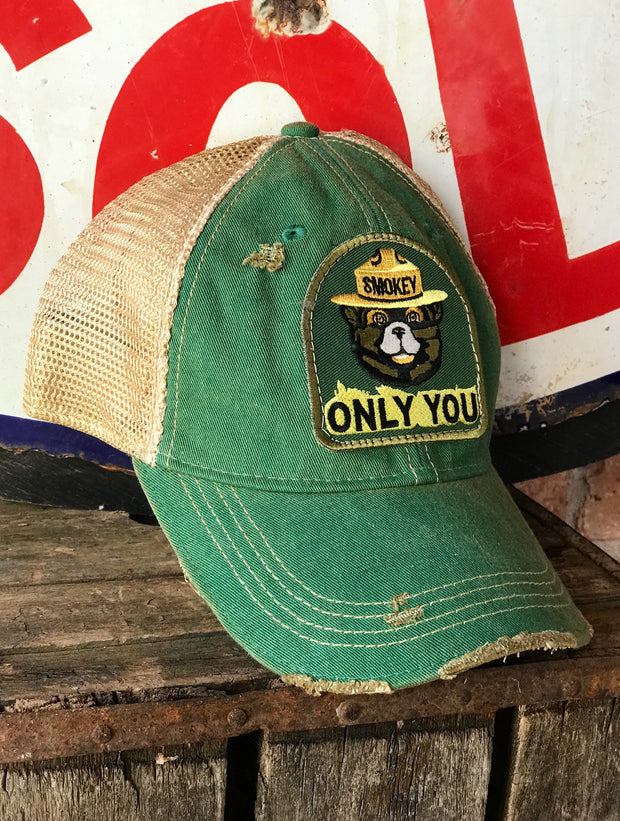 Smokey Bear Distressed Ball Cap