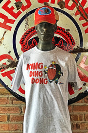 King Ding Dong Short Sleeved Tee- Heather Grey
