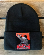 Chupacabra Stocking Hat- Black