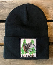Bat-Squatch Stocking Hat- Black