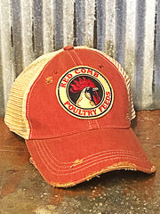 Red Comb Poultry Feeds Distressed Hat