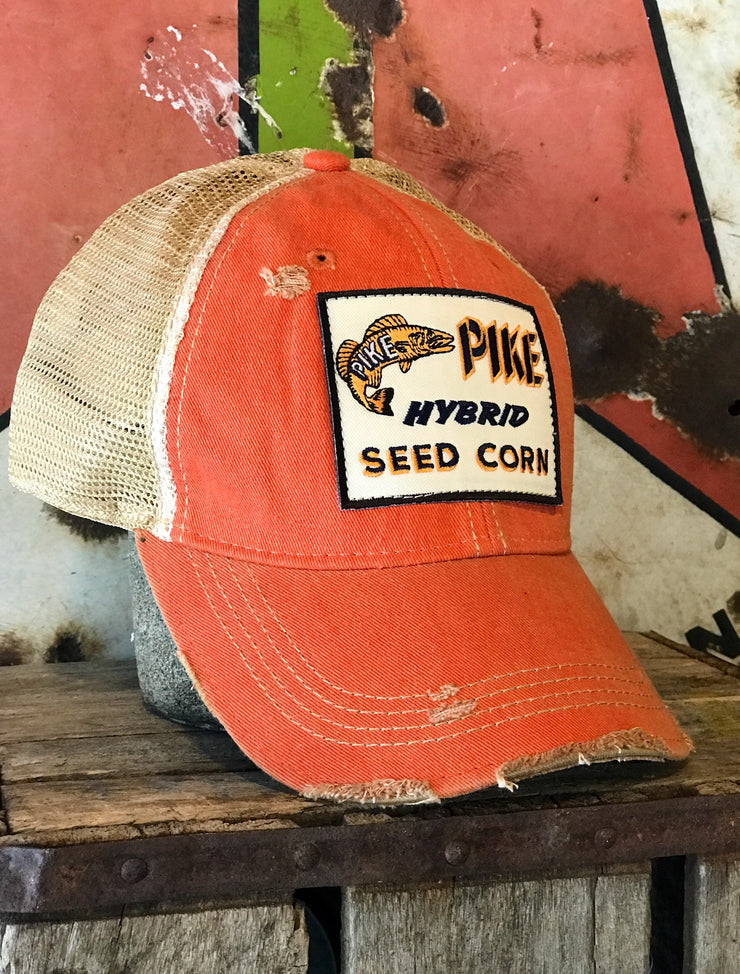 Distressed Angry Minnow Vintage Hats