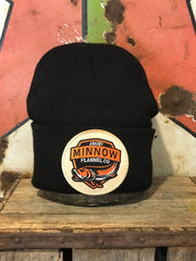 Angry Minnow Vintage Logo Stocking Hat- Black