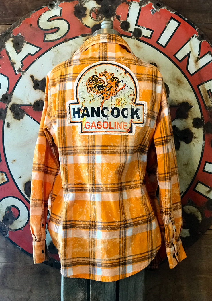 Hancock Gas Art Flannel- Distressed Orange