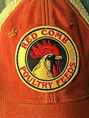Red Comb Feeds Baseball Cap