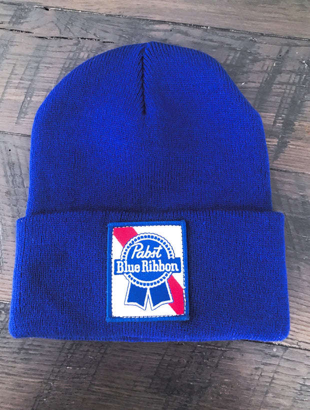 Pabst Blue Ribbon Stocking Cap- Royal Blue