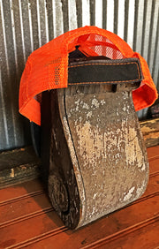 Sleestak Monster Hat - Distressed Orange/Black