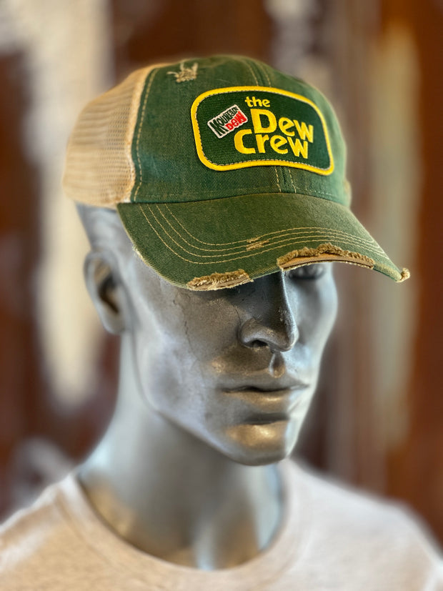 'The Dew Crew' Mountain Dew Hat- Distressed Kelly Green Snapback