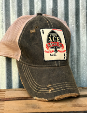 Penn Ace Motor Oil Gasoline Trucker Patch Hat- Angry Minnow Vintage