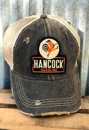 Hancock Patch Hat- Distressed Vintage Black Angry Minnow Vintage
