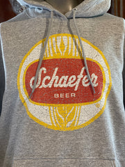 Schaefer Beer Hoodie- Heather Grey