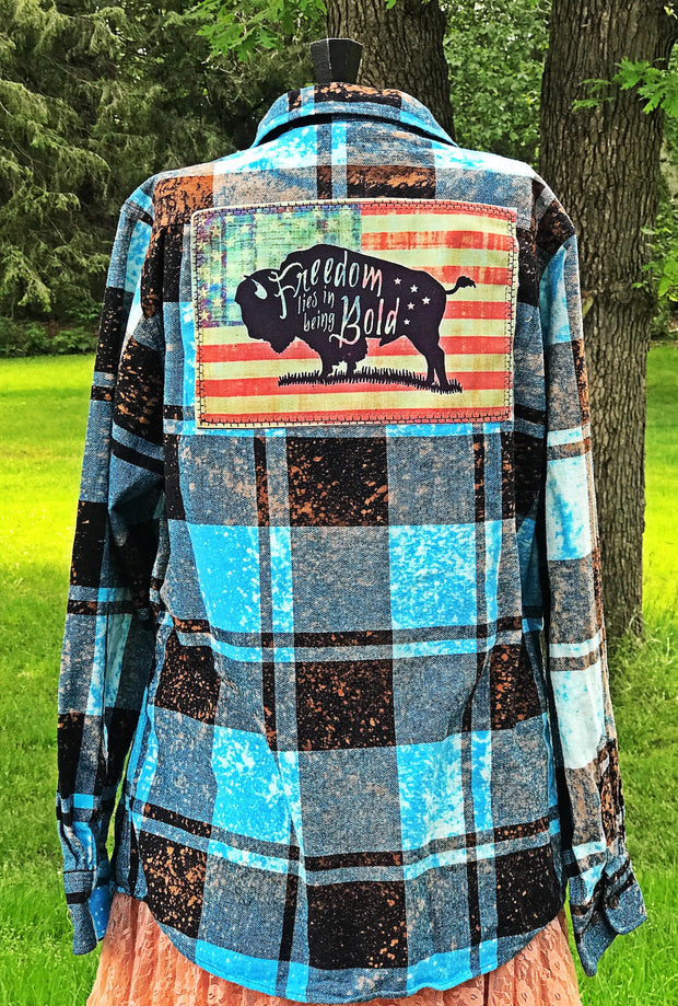 Distressed Flannel Buffalo Angry Minnow Vintage