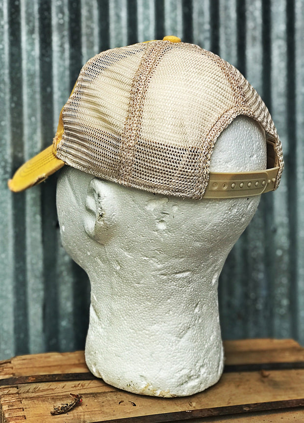 Schaefer Beer Hat- Distressed Ginger Snapback