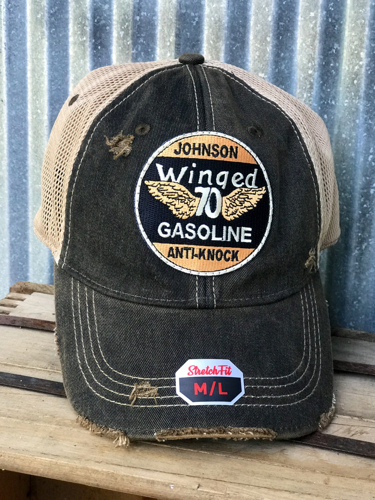 Johnson Gasoline - Vintage Black STRETCH FIT M/L