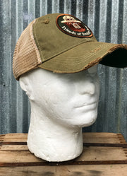 Friends Of Smokey Bear Hat- Distressed Sage Green Snapback Super Vintage Super Soft