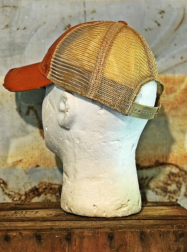 Grizzly Gasoline Baseball Hat- Vintage Orange Angry Minnow Vintage