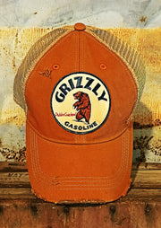 Grizzly Gasoline Distressed Ball Cap