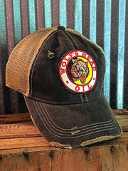 Wolfs Head Hat- Distressed Black