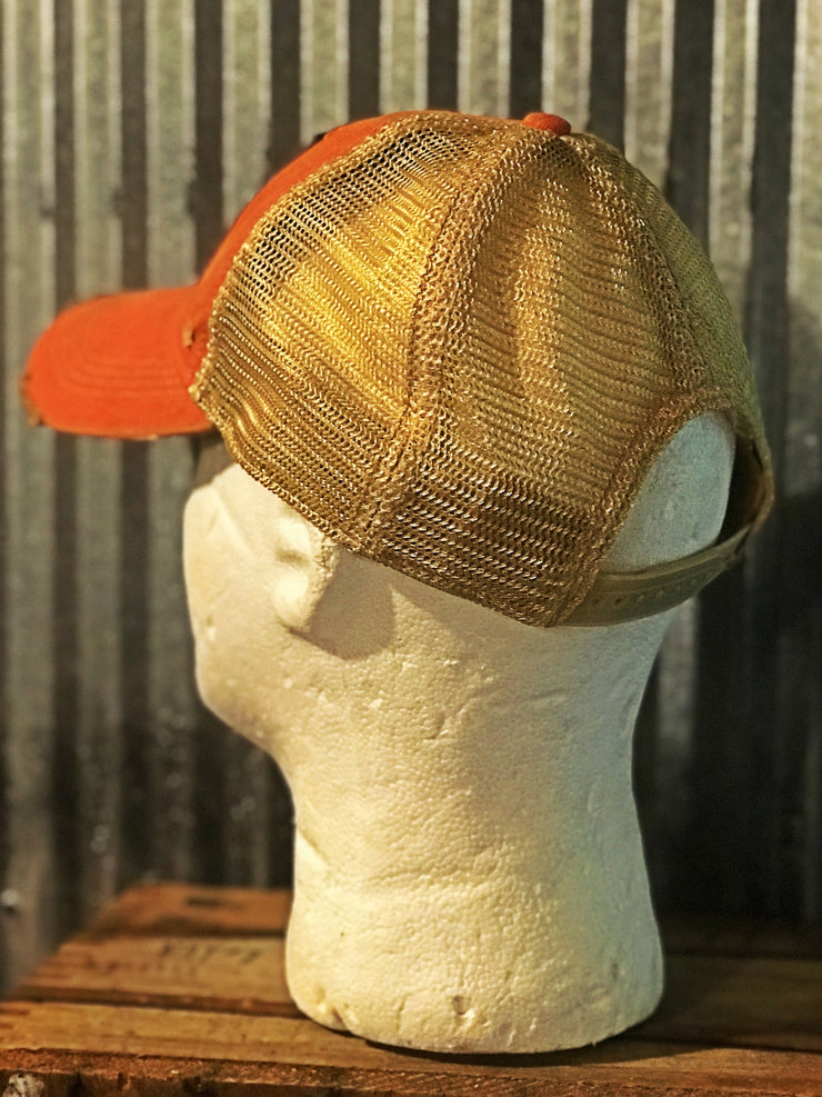 Stiff Stalk Hat- Distressed Orange
