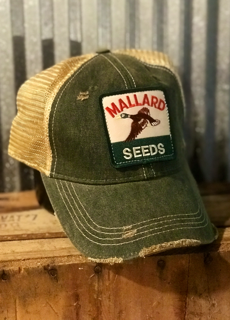 Distressed Ball Cap Mallard Seeds