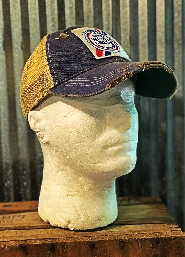 Red White and Blue Distressed Cap