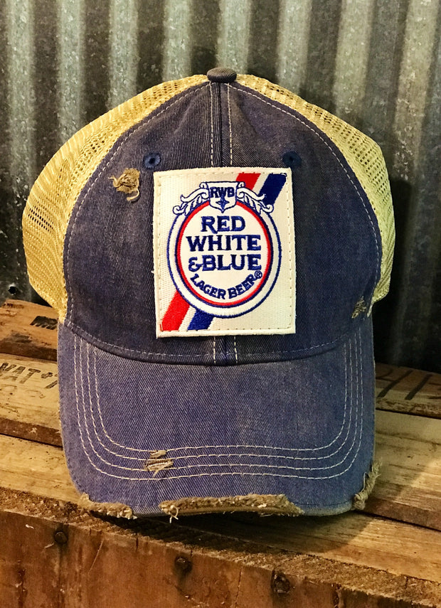 Red White and Blue Beer Hat