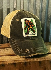 WOODBOOGER The Bigfoot- Distressed Black Angry Minnow Vintage
