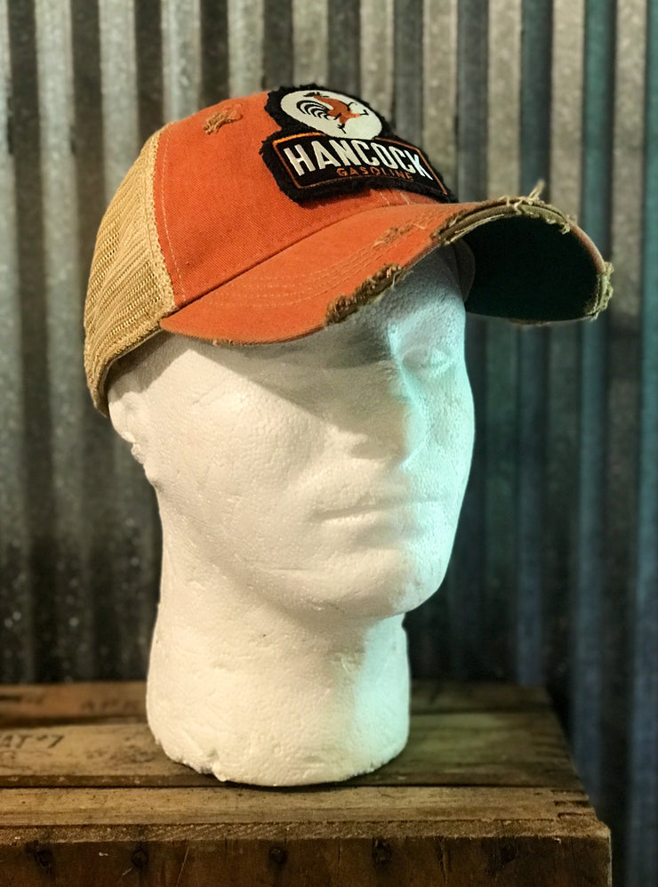 Hancock Patch Hat- Distressed Vintage Orange Angry Minnow Vintage