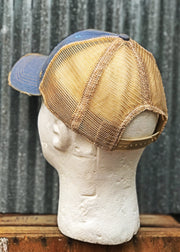 Fishing Hat(Blue Patch)- Distressed Sky Blue Angry Minnow Vintage