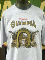 Olympia Horseshoe Tee- Heather Grey Angry Minnow Vintage Officially Licensed