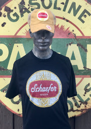 Schaefer Beer Tee- Black Officially Licensed Angry Minnow Vintage