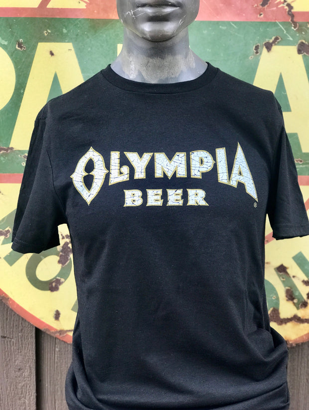 Olympia Beer Tee- Black Ring Spun Super Soft and Ultra Vintage! Angry Minnow Vintage