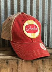 Schaefer beer hat Angry Minnow Vintage