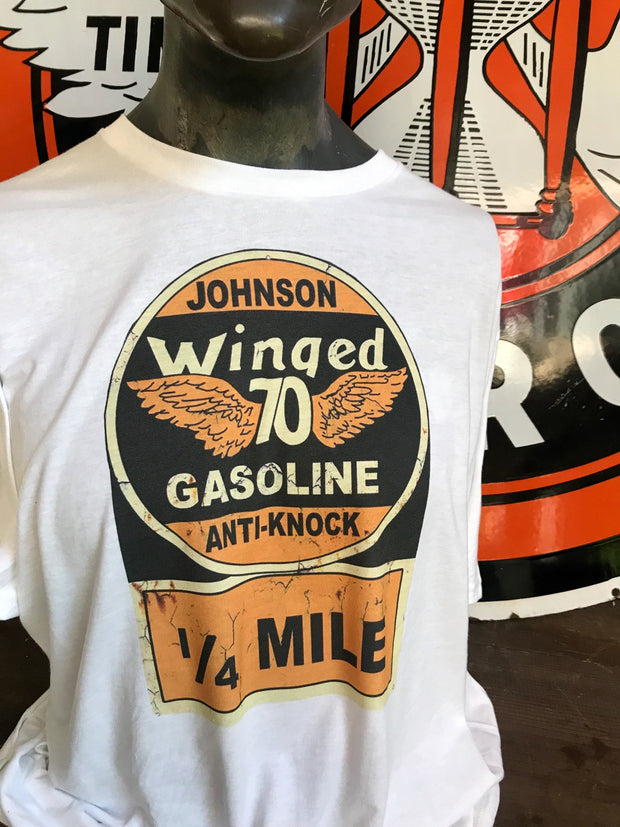 Johnson Gasoline Gas T-shirt Angry Minnow Vintage