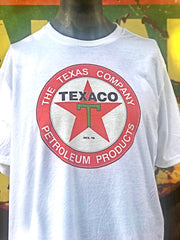 Texaco Oil Tee-White- Angry Minnow Vintage