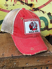 Muncy Chief Seed Patch Hat- Distressed Red