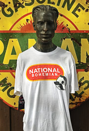 National Bohemian Beer Tee- White Angry Minnow Vintage officially licensed