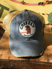 Distressed Hat Grizzly Gas