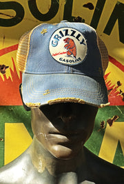 Grizzly Gasoline Patch Hat- Distressed Sky Blue