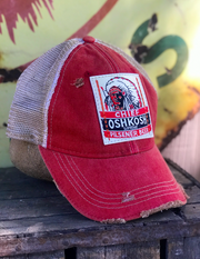 Beer Hat Chief Oshkosh Angry Minnow Vintage