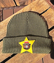 Smokey Bear Ranger Stocking Hat- Olive Green- Angry Minnow Vintage