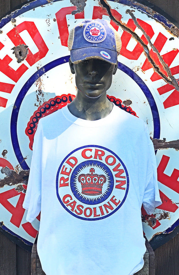 Red Crown Vintage Logo Tee- White