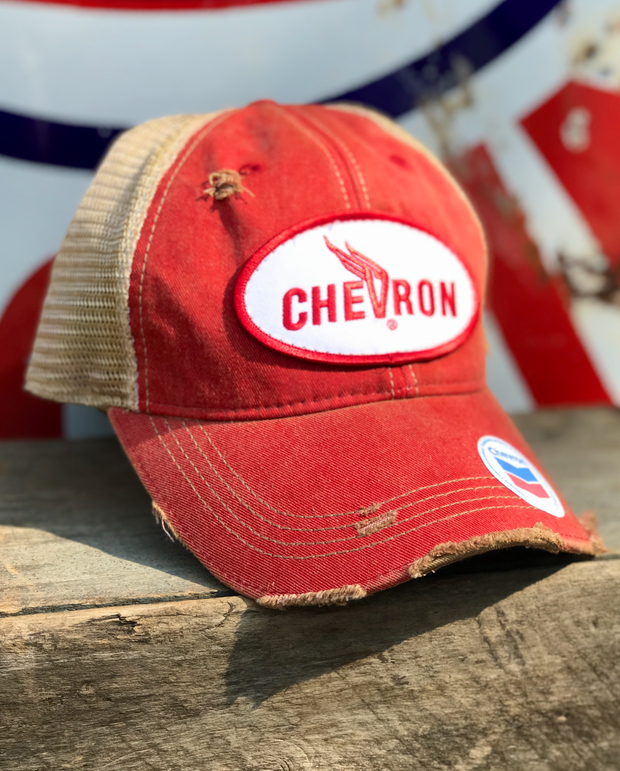Chevron Gasoline Angry Minnow Vintage Hat