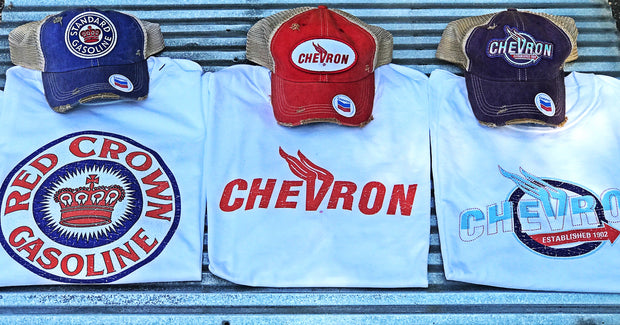 Chevron Gasoline Apparel Angry Minnow Vintage