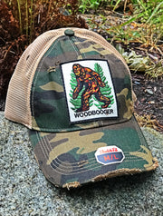 Camo Bigfoot Hat Angry Minnow Clothing Co.