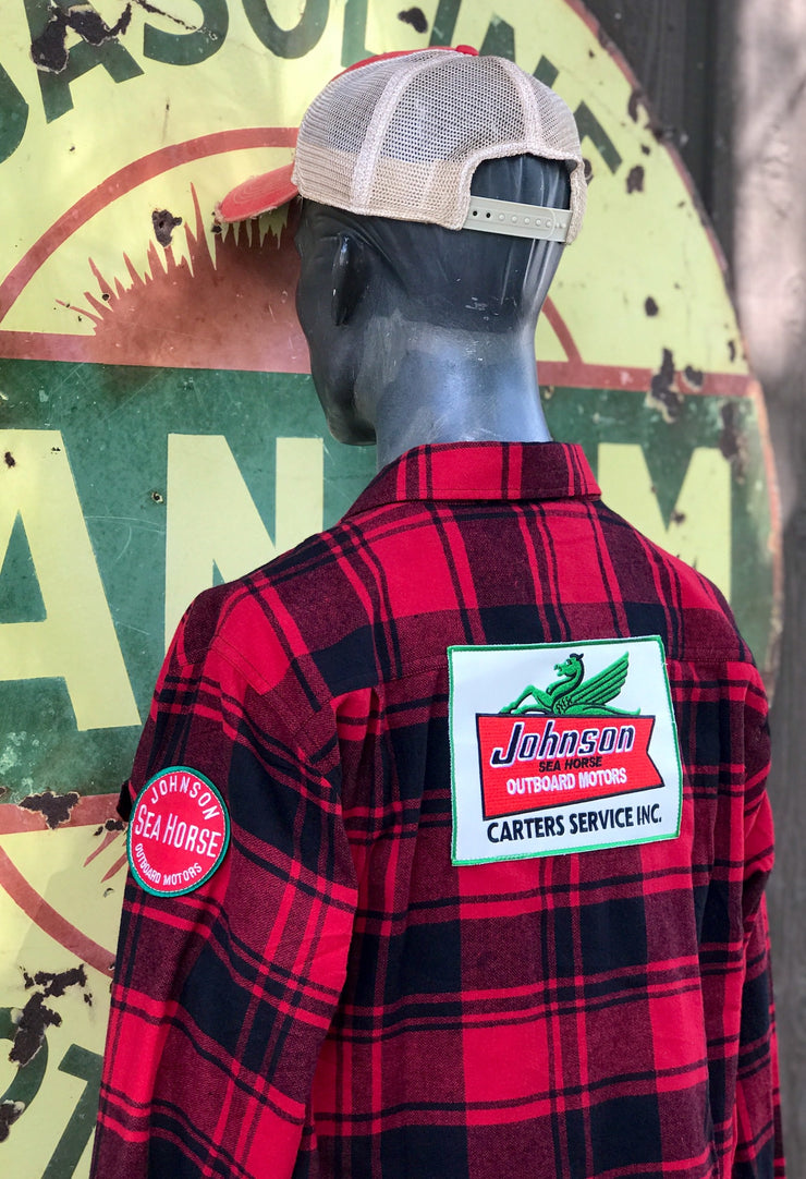 Outboard Fishing Flannel- Classic Red